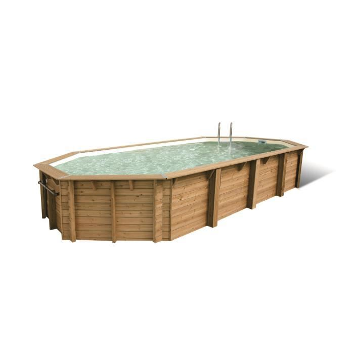 Piscine bois bali allong e en kit 750x400xh130 cm achat for Achat piscine bois