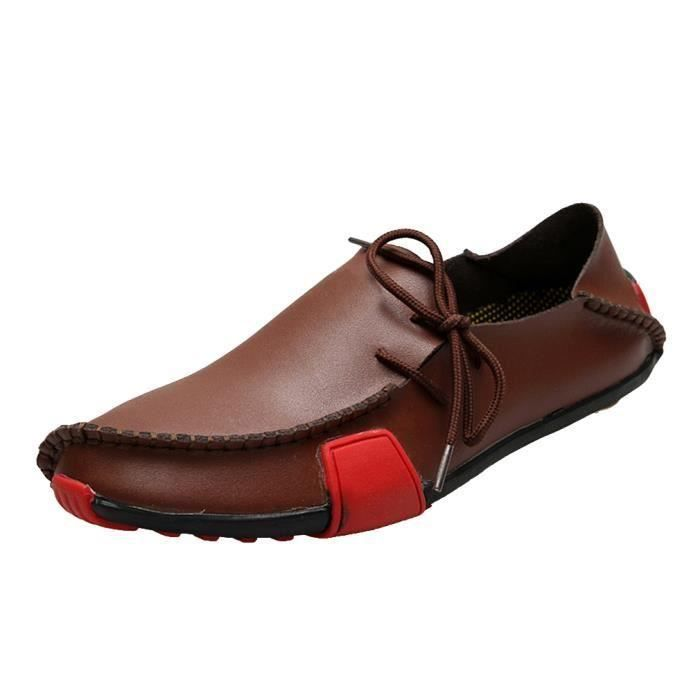 Derby Mocassin Chaussure Cuir Homme Gar on D co...
