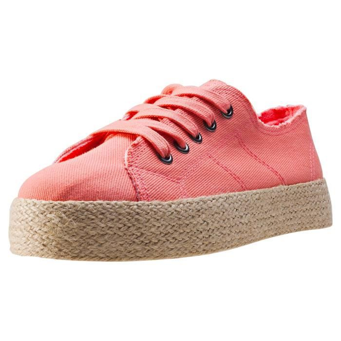 Rocket Dog Madox Denim Dan Femmes Baskets Peach - 8 UK