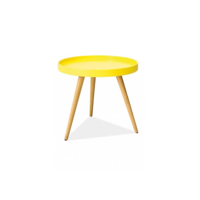 table basse design tani c jaune achat vente table