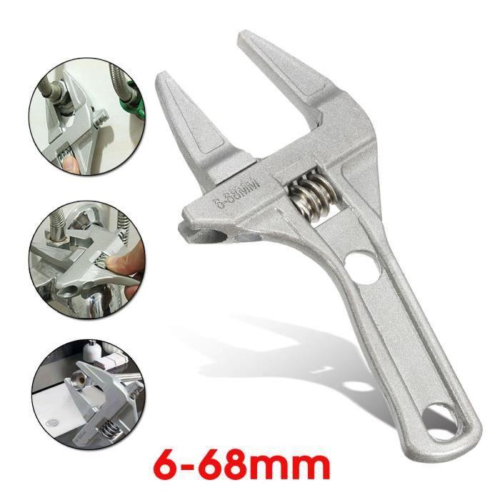 En alliage d/'aluminium Clé à molette réglable 9-70 mm Démontage Installation sanitaire Ware