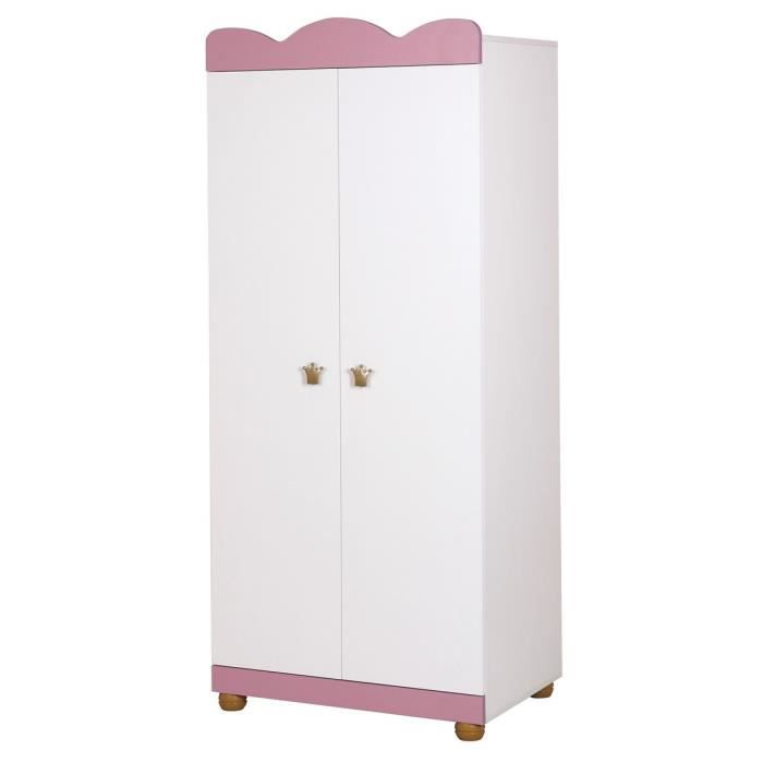 armoire deux portes princesse couleur marketing rose composition bois achat vente. Black Bedroom Furniture Sets. Home Design Ideas