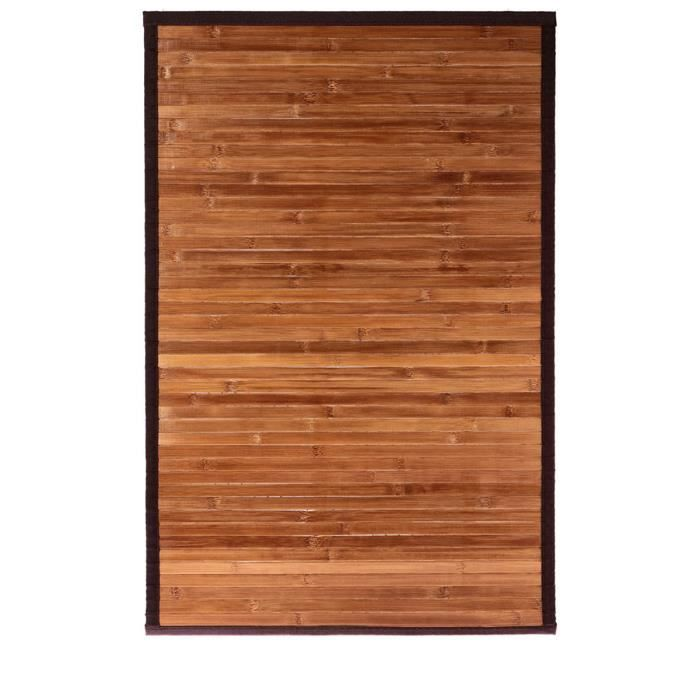 tapis bambou bois clair antid rapant marron achat vente tapis bain cdiscount. Black Bedroom Furniture Sets. Home Design Ideas