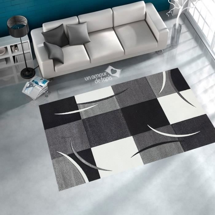 diamond comma gris 120x170 par dezenco tapis mod achat vente tapis cdiscount. Black Bedroom Furniture Sets. Home Design Ideas