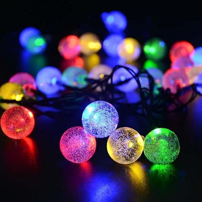 Solaires Guirlandes lumineuses d'extérieur, 6M 30 LED Multicolore
