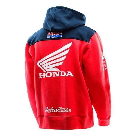 Sweat à capuche Zippé Honda HRC TroyLee Designs Rouge