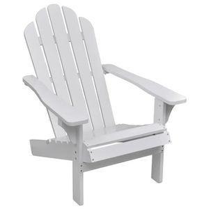 CHAISE LIUX Chaise de salon jardin en bois blanche chaise