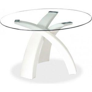 TABLE À MANGER SEULE Table à manger ronde blanche WENDY