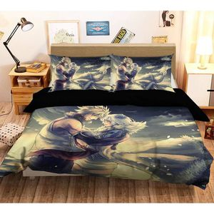 HOUSSE DE COUETTE ET TAIES 3D Fairy Tail 3690 Japan Anime Game 200x225 cm + 2