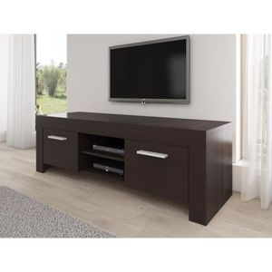 rome meuble tv contemporain d cor ch ne fonc 160 cm achat vente meuble tv rome meuble tv. Black Bedroom Furniture Sets. Home Design Ideas
