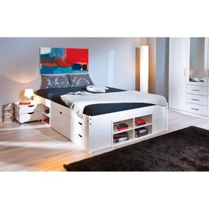 lit 160x200 tiroir achat vente lit 160x200 tiroir pas. Black Bedroom Furniture Sets. Home Design Ideas