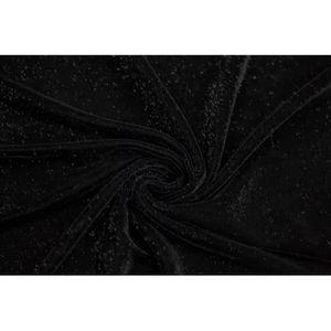 TISSU Tissu Velours Velvet Brillant Noir -Au Mètre