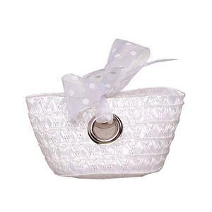 BOÎTE À DRAGÉES Contenant à dragées blanc sac miniature mariage