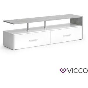 COMMODE DE CHAMBRE Vicco Lowboard Amato commode armoire béton gris bl