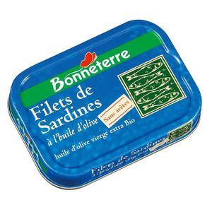 PRODUIT DE SARDINE Filets de Sardines sans aretes, Huile d'Olive B…