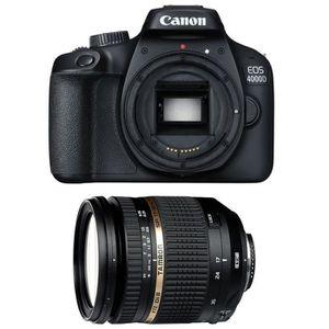 APPAREIL PHOTO RÉFLEX CANON EOS 4000D + TAMRON SP AF 17-50 mm f/2.8 XR D