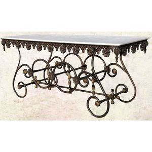TABLE DE JARDIN  Casa Padrino Table nostalgique de jardin en fer fo