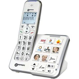 Téléphone fixe GEEMARC Téléphone grosses touches sénior amplifié