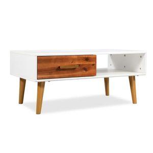 TABLE BASSE Table de Salon Table basse Avec 1 tiroir et 1 étag