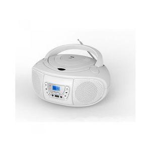 RADIO CD CASSETTE Lecteur Radio CD-MP3-Bluetooth Blanc - WERADCDTELB
