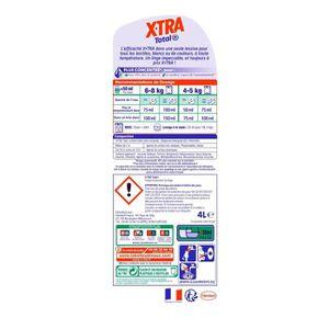 LESSIVE XTRA Total - Lessive Liquide - 4L - 80 Lavages