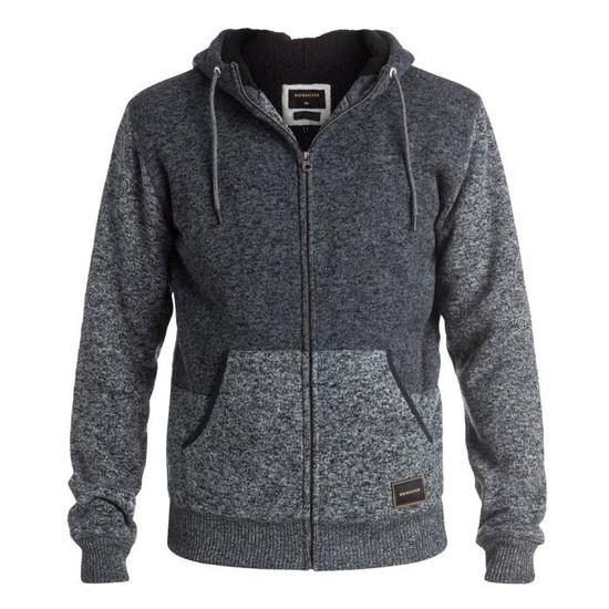 Sweat shirt à capuche Quiksilver Keller Sherpa Gris Achat