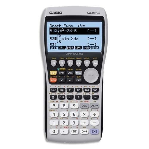 CASIO Calculatrice graphique GRAPH75