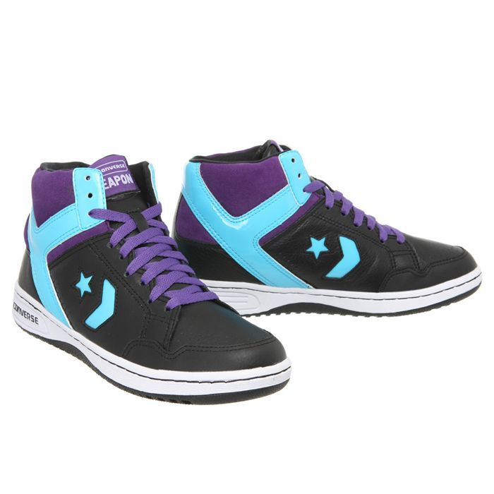 converse weapon 86 chucks 107122 leder lila gelb wei lakers pictures. Black Bedroom Furniture Sets. Home Design Ideas
