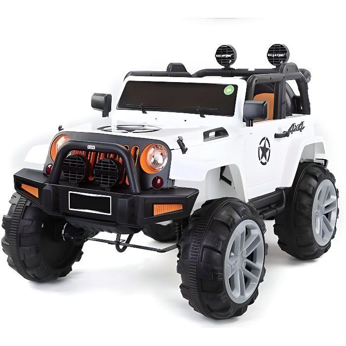 ATAA BIGFOOT 4X4 Blanc - Voiture électrique pour enfant avec batterie 12v et télécommande