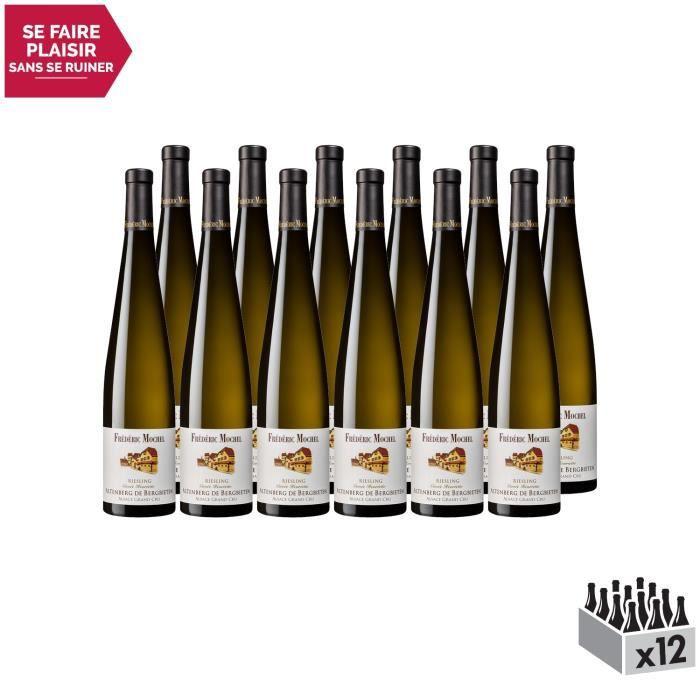 Alsace grand cru Altenberg de Bergbieten Riesling Cuvée Henriette Blanc 2016 - Lot de 12x75cl - Domaine Frédéric Mochel - Vin AOC