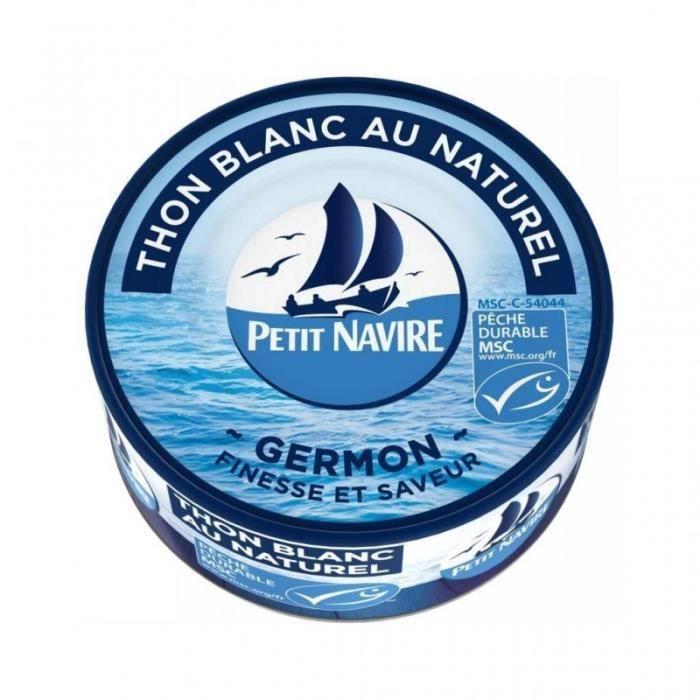 Petit Navire Thon Blanc Au Naturel Germon Finesse Et Saveur 160g (lot de 5)