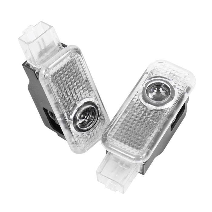 LED Voiture Porte Bienvenue Lumière de Projecteur Pour AUDI Q3 Q5 Q7 Q8 TT S3 S4 A3 8V 8P 8L A6 C5 C6 C7 C8 A1 8X A OOOO -TO1614