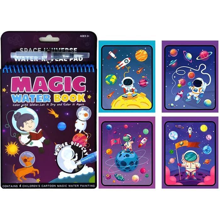 Magic Water Drawing Book Réutilisable avec 1 Pcs Magic PenWater Doodle Mat Kids Painting Writing Doodle Toy Board Birthday Christm