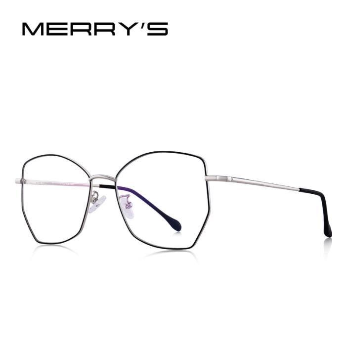 Montures de Lunettes de vue,MERRYS lunettes optiques femmes DESIGN tendance femme, monture de lunettes dames - Type C01 Black