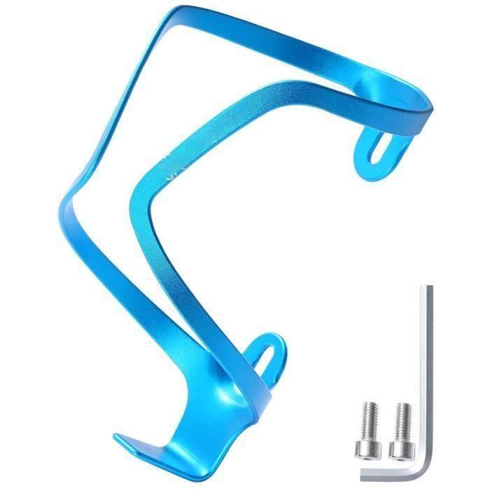 Support de bouteille d 'eau de vélo en alliage d 'aluminium Cage de bouteille d 'eau de vélo pour vélo de montagne VTT(Bleu)