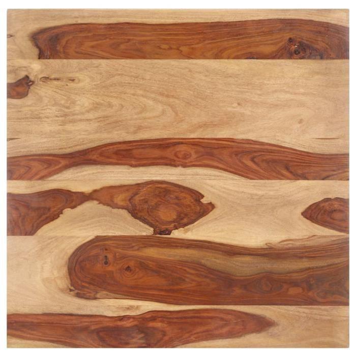 Dessus de table Carré Plateaux de table Naturel - Bois solide - épaisseur 15-16 mm - 60x60 cm - Avec 2 supports - DIY Rénover Table