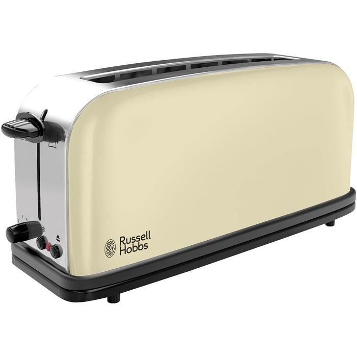 TOASTER Russell Hobbs Toaster GrillePain Fente Large Speacutecial Baguette 6 Niveaux de Brunissage Deacutecongegravele Reacutec17