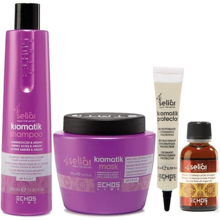 Coffrets de soins pour cheveux Kromatik Kit Seliar® The New Generation of color protection Amino Acids & Argan Shampooin 283435