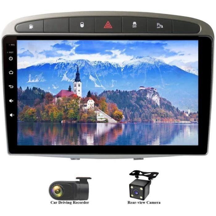 Android 9.0 Autoradio 9 Pouces Écran Tactile in-Dash Voiture Radio 8-Core RAM 4G ROM 64G Gris Autoradio pour Peugeot 308 (2008- 143