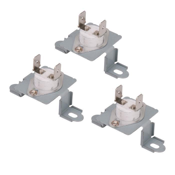 Remplacement du fond du fusible thermique de la sécheuse 3 pièces à la plaque métallique pour 6931EL3003D