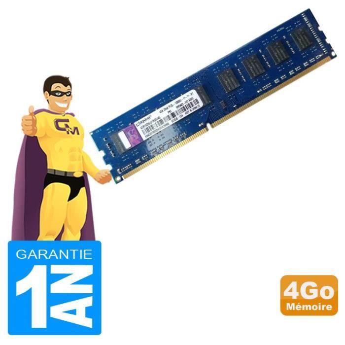 4Go Ram Kingston Acr16d3lu1ngg/4G Ddr3 Pc3l 12800U 1600Mhz 2Rx8 Cl11 Pc Bureau