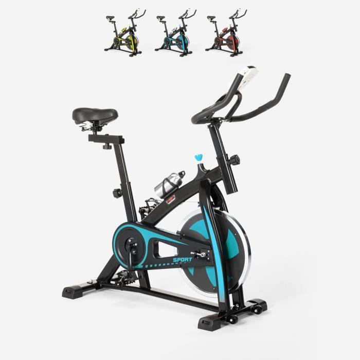 Spin Bike Spinning vélo de forme professionnelle avec volant d'inertie Athletica - couleur:Turquoise