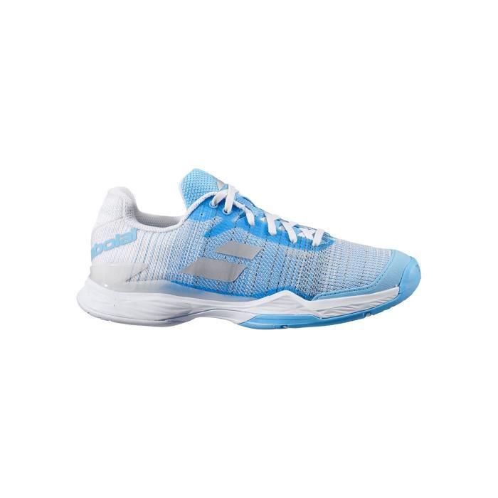 Chaussures BABOLAT JET MACH II AC Femme Blanc / Bleu AH 2020