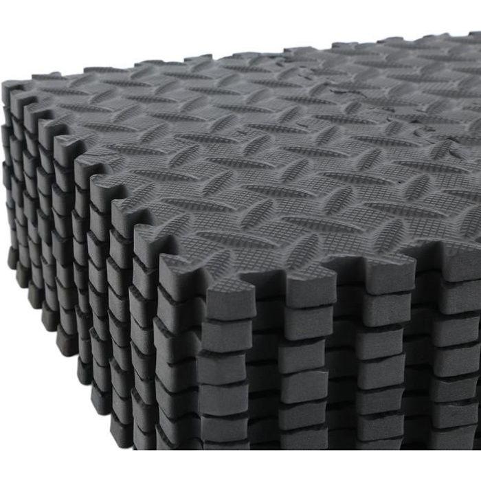 Cara 36pcs Tapis de protection de sol – Matelas puzzle pour matériel fitness, gym, musculation – 15cm*15cm