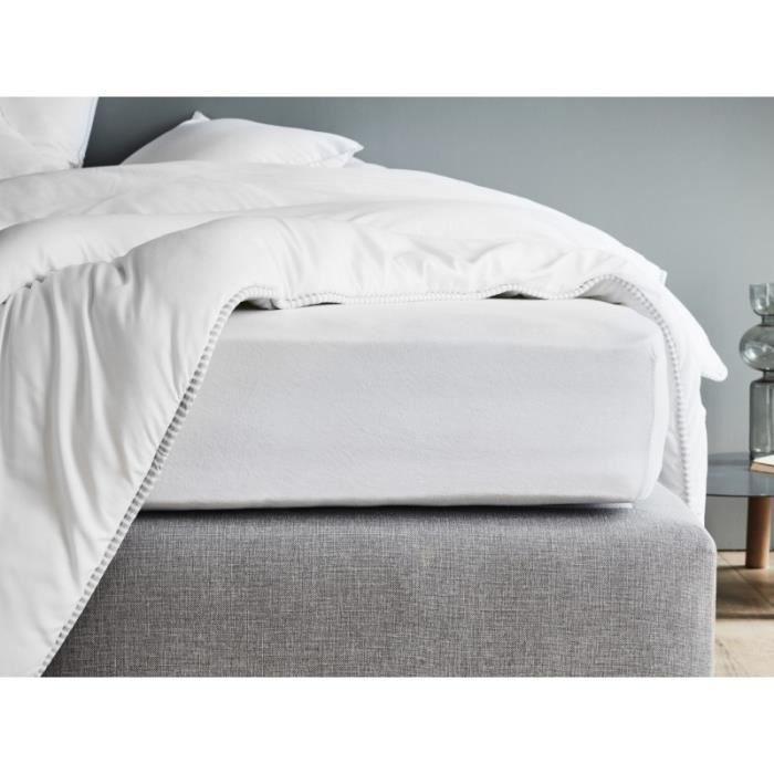 Vesgantti Drap-Housse Respirant pour Matelas jusqu/à 35 cm 100/% Coton 90 x 200 cm Drap Housse