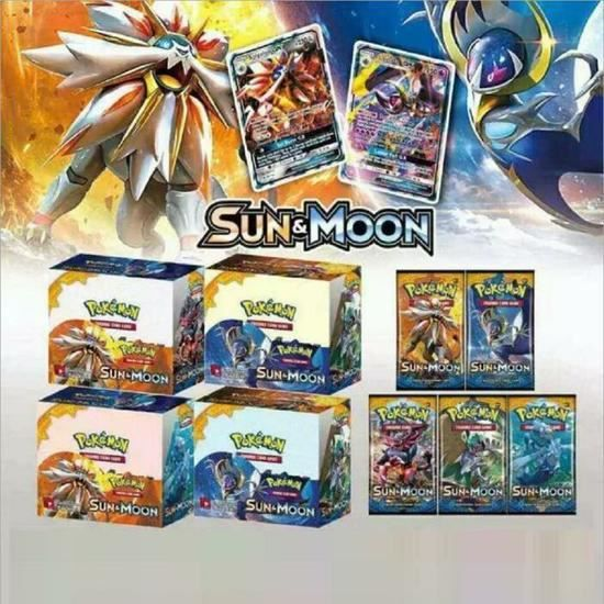 CARTE A COLLECTIONNER 324PCS Pokémon Cards 34 boosters Lune & Soleil Car