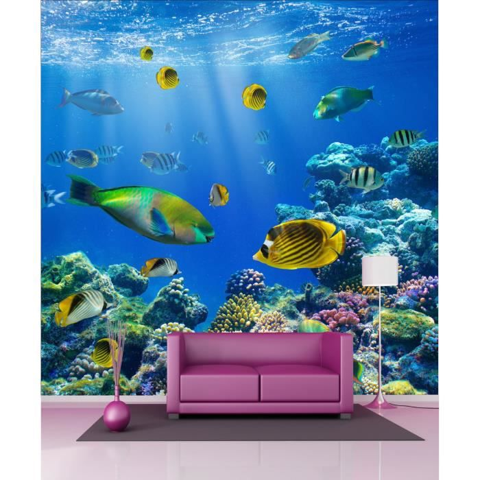 Stickers g ant d co poissons aquarium dimensi achat for Deco aquarium poisson