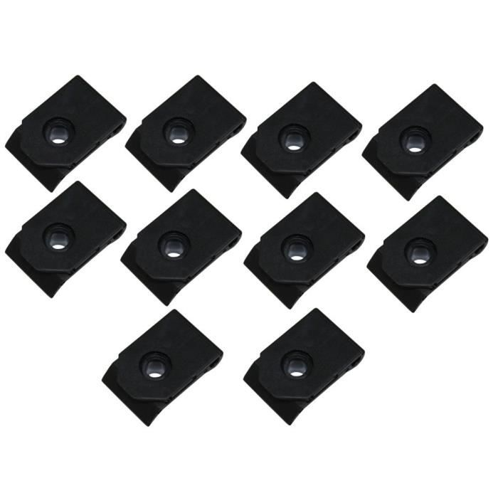aerzetix 10x agrafes u clips en plastique pour moulure toyota camry carina 2 e celica corolla. Black Bedroom Furniture Sets. Home Design Ideas