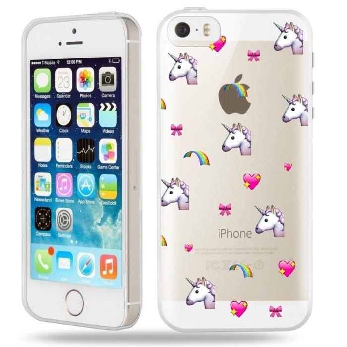 coque iphone 5 5s se licorne coeur unicorn cute ka
