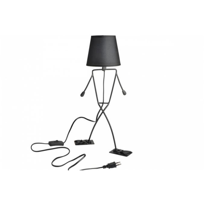 lampe poser bonhomme noir achat vente lampe poser. Black Bedroom Furniture Sets. Home Design Ideas